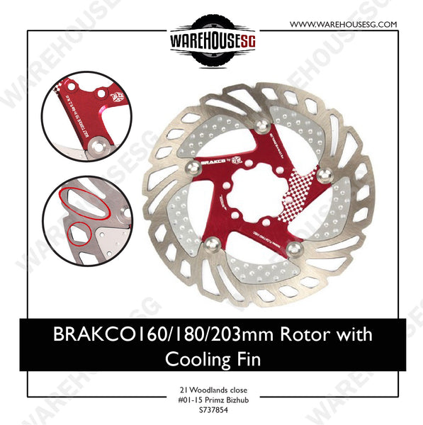 Bracko 160mm Rotor with Cooling Fin
