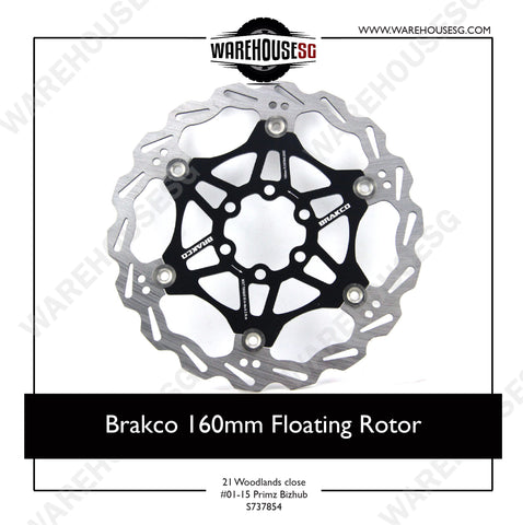 Brakco 160mm Floating Rotor