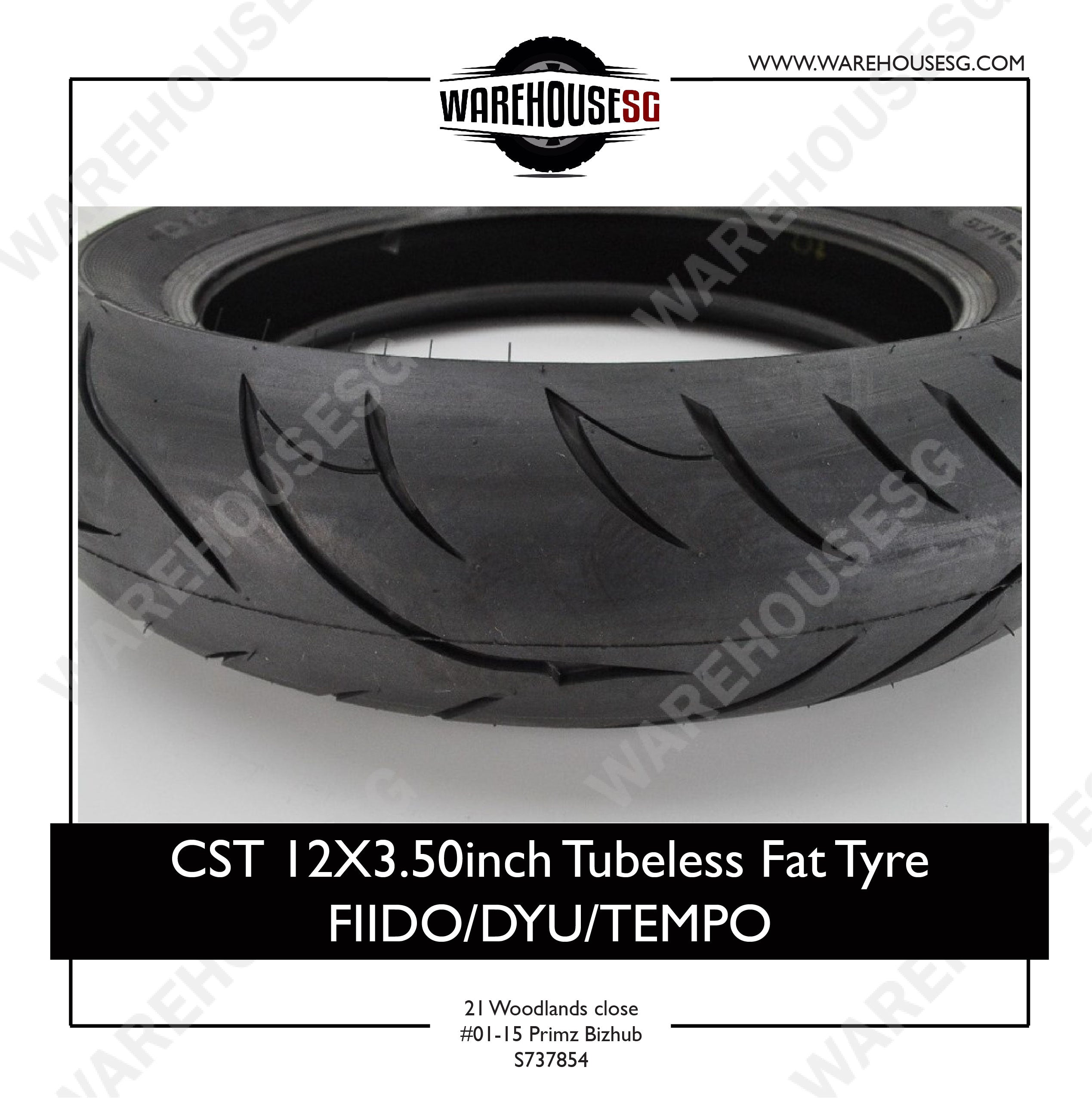 CST 12X3.50 inch Tubeless Fat Tyre FIIDO/DYU/TEMPO