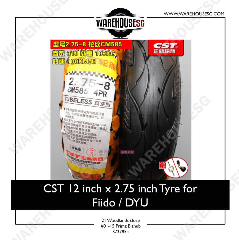 "CST 12x2.75"" inch Outer Tyre"