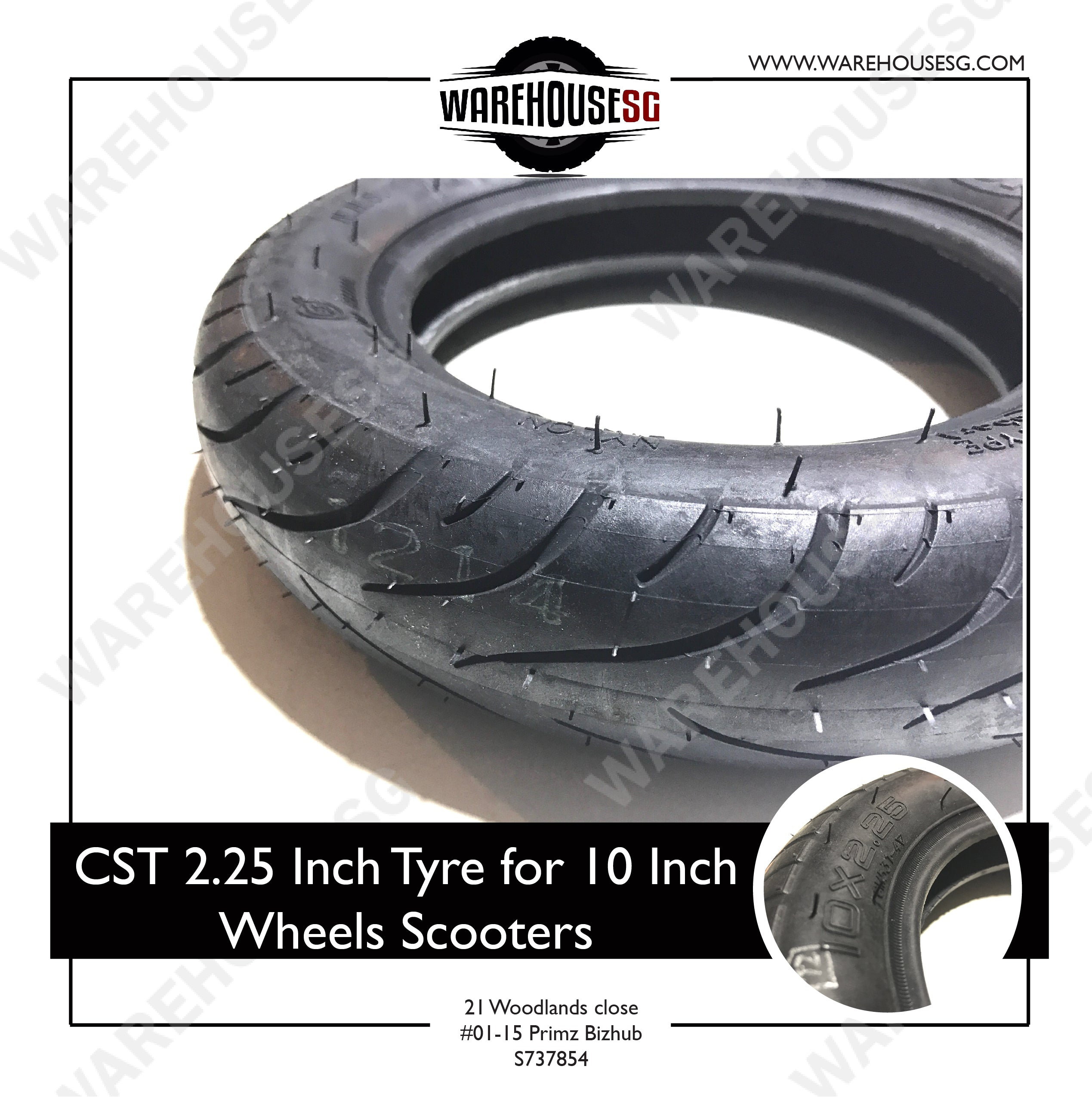 "CST 10x2.25"" Inch Outer Tyre"