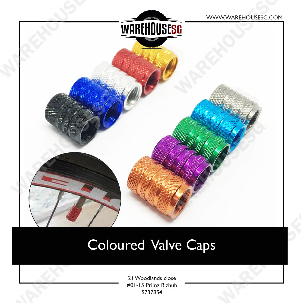 Coloured Valve Caps