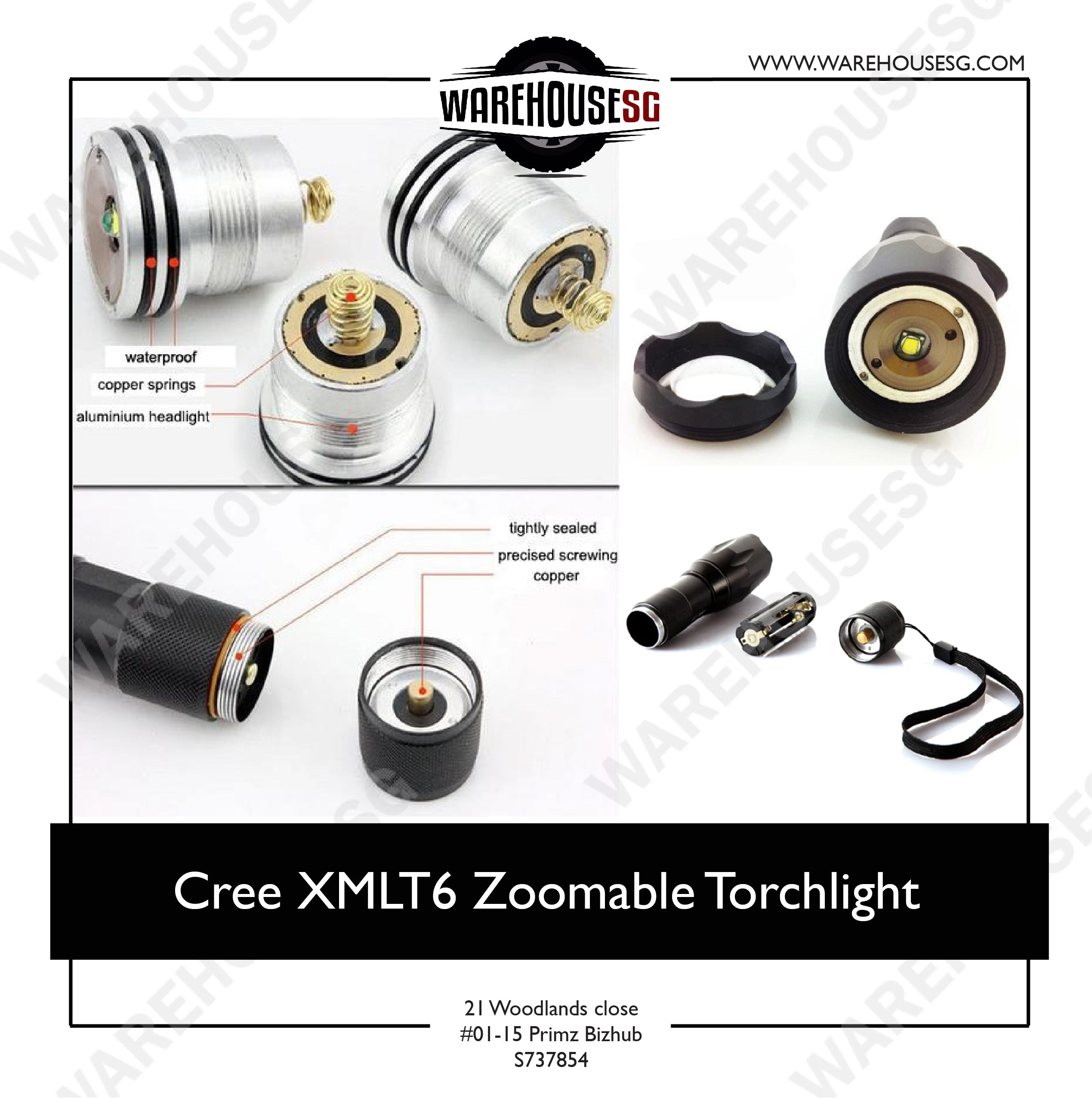 Cree XMLT6 Zoomable Torchlight