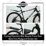 Cycling Mountain Bike Bicycle Front Rear Back Tire Mudguard Mud Guard Fender Set