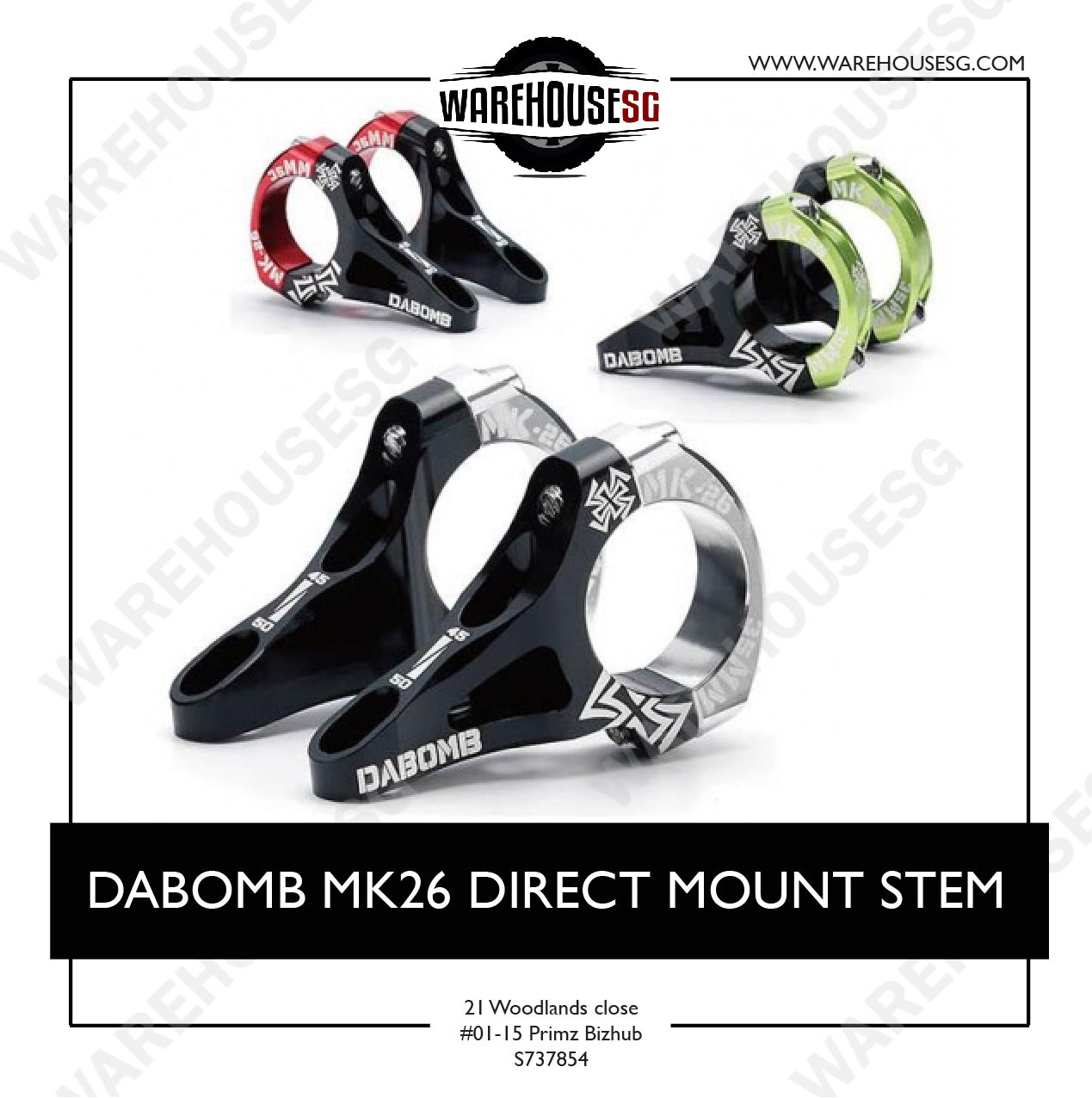 DABOMB MK26 DIRECT MOUNT STEM
