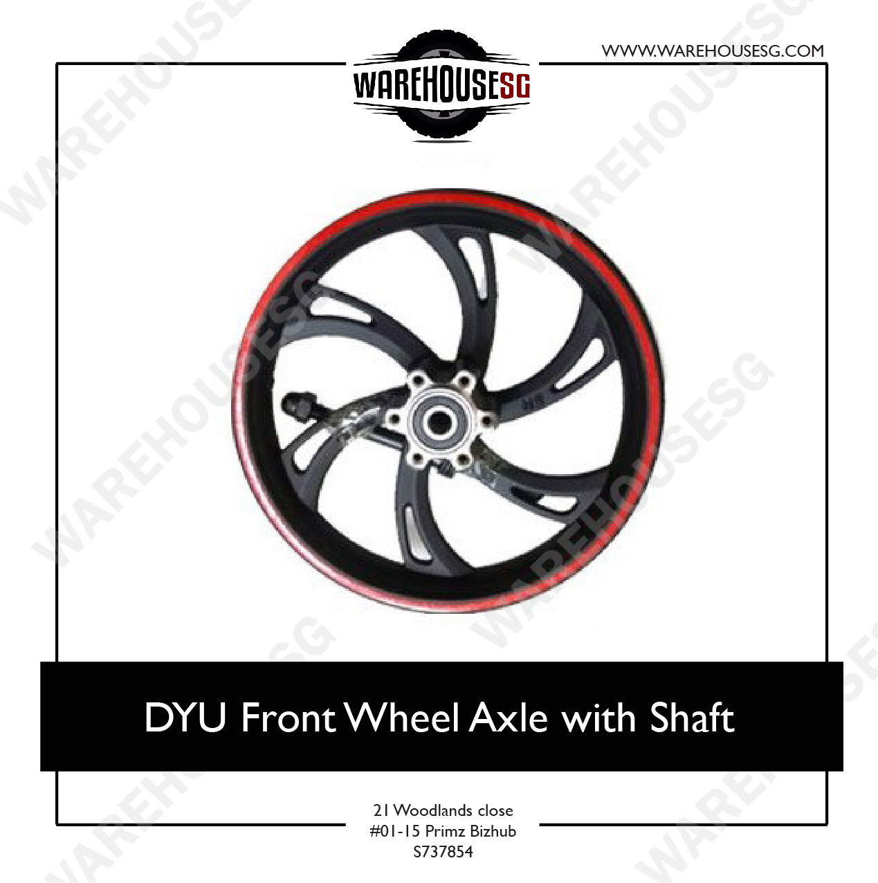 DYU Front Wheel Axle with Shaft