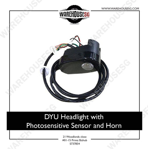 DYU Headlight with Photosensitive Sensor and Horn