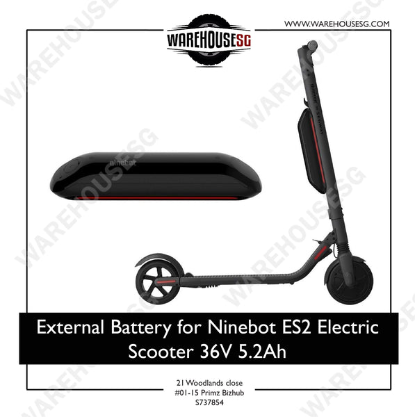 External Battery for Ninebot ES2 Electric Scooter 36V 5.2Ah