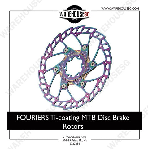 FOURIERS Ti-coating MTB Disc Brake Rotors 140-203mm AL6061 CNC adapter DSK001