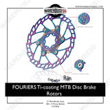FOURIERS Ti-coating MTB Disc Brake Rotors 180mm AL6061 CNC adapter DSK001