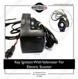 Key Ignition With Voltmeter For Electric Scooter