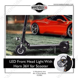 LED Front Head Light With Horn 36V for Scooter
