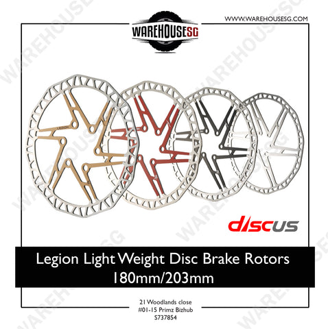 Legion Light Weight Disc Brake Rotors 180mm/ 203mm