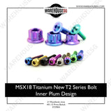 M5X18 Titanium New T2 Series Bolt Inner Plum Design