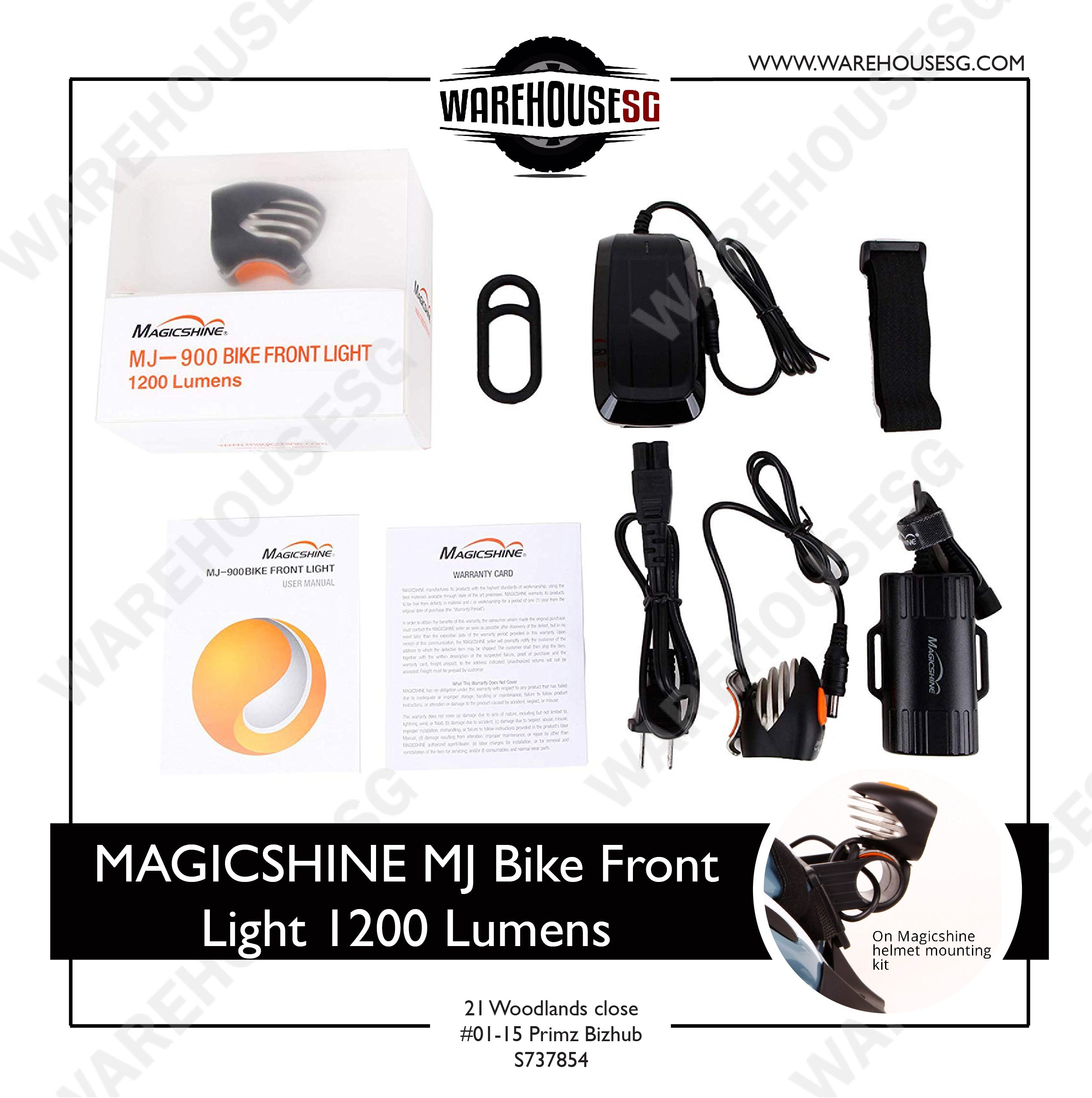 MAGICSHINE MJ Bike Front Light 1200 Lumens