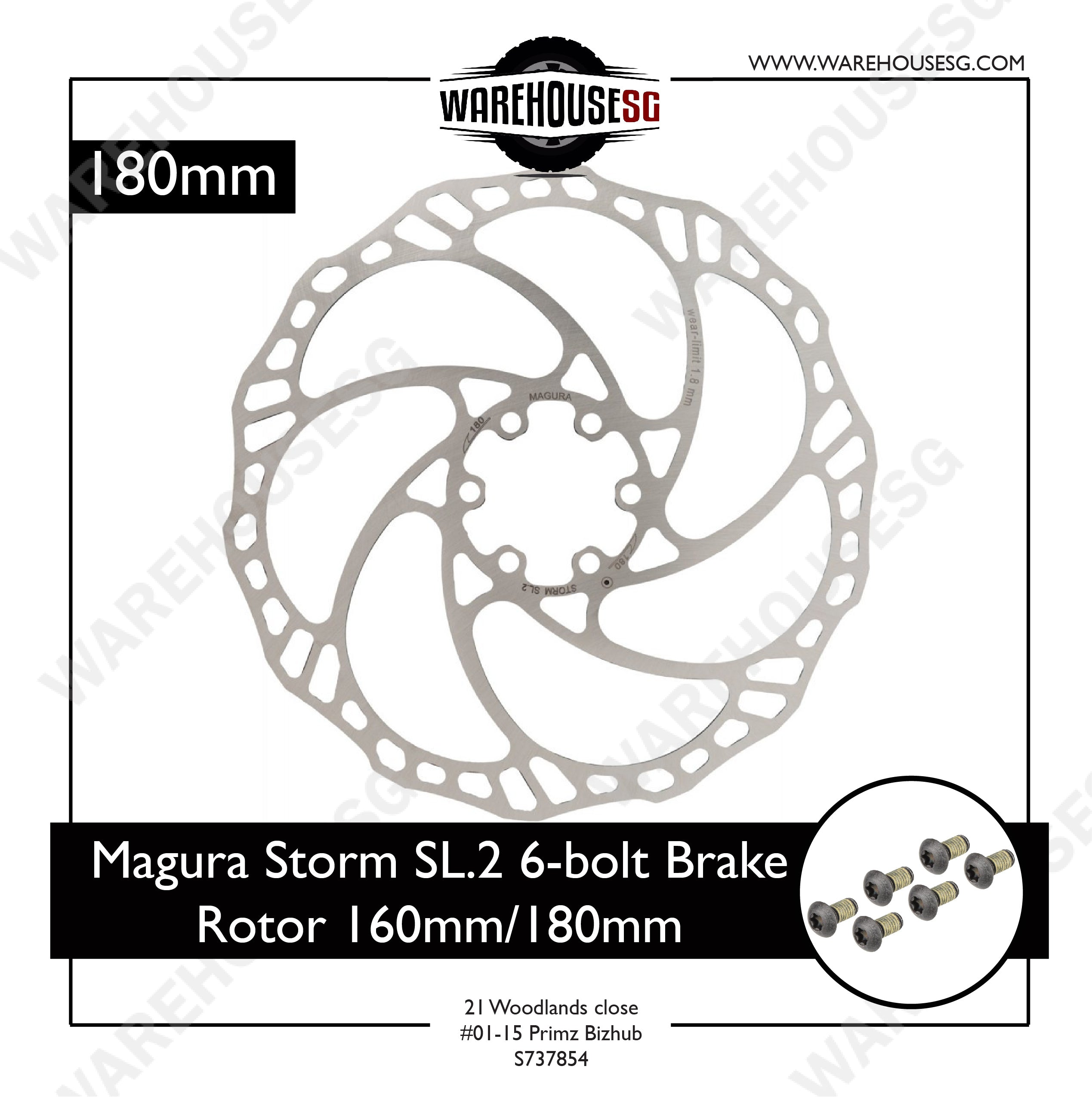 Magura Storm SL.2 6-bolt Brake Rotor 160mm/180mm