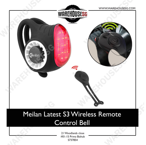 Meilan Latest S3 Wireless Remote Control Bell for Bicycle/Scooter