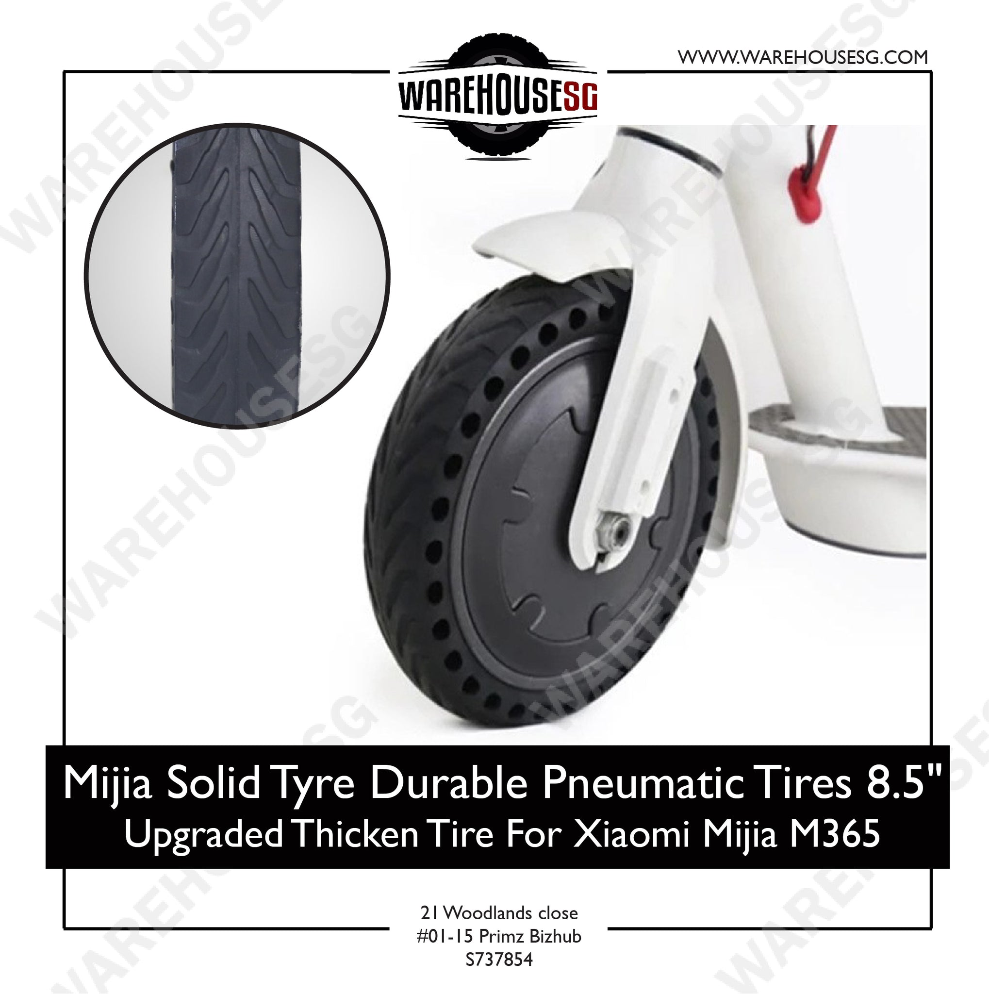 Nedong Xiaomi Solid Tyre with Hole