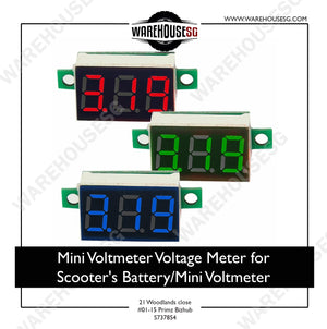 Mini Voltmeter Voltage Meter for Scooter's battery/Mini Voltmeter