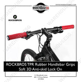 ROCKBROS TPR Rubber Handlebar Grips Soft 3D Anti-skid Lock On
