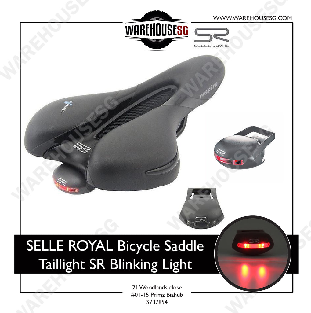 SELLE ROYAL FIZIK Bicycle Saddle Taillight SR Blinking Light Cycling Warning Rear Light Road Bike LED Flashing Lamp With Battery