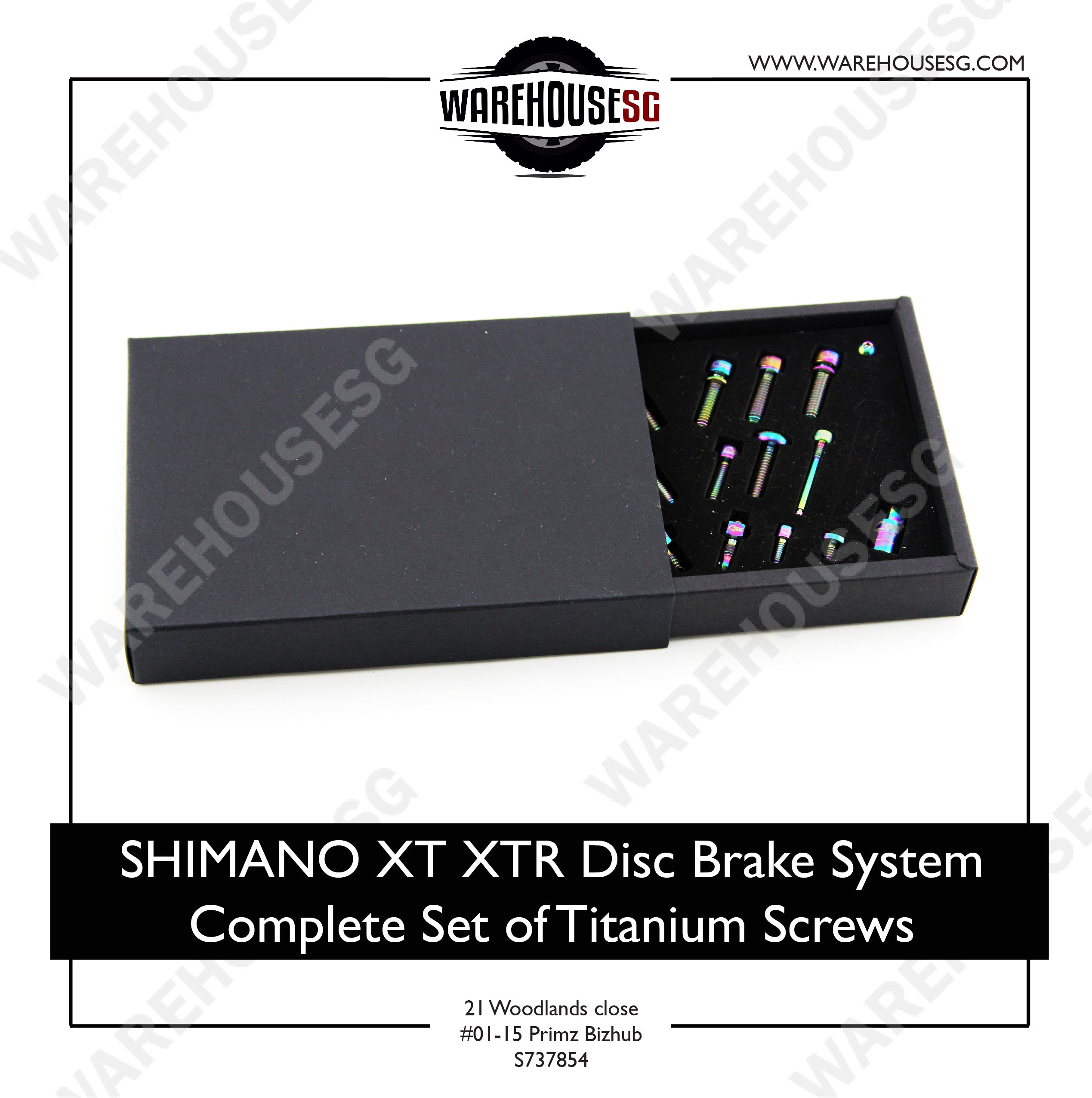 SHIMANO XT XTR Disc Brake System Complete Set of Titanium Screws