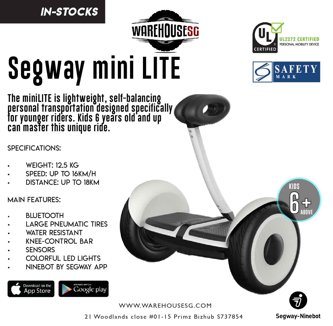 ★LOWEST PRICE GUARANTEED★ Segway MiniLite Self-Balancing Hoverboard UL2272 CERTIFIED