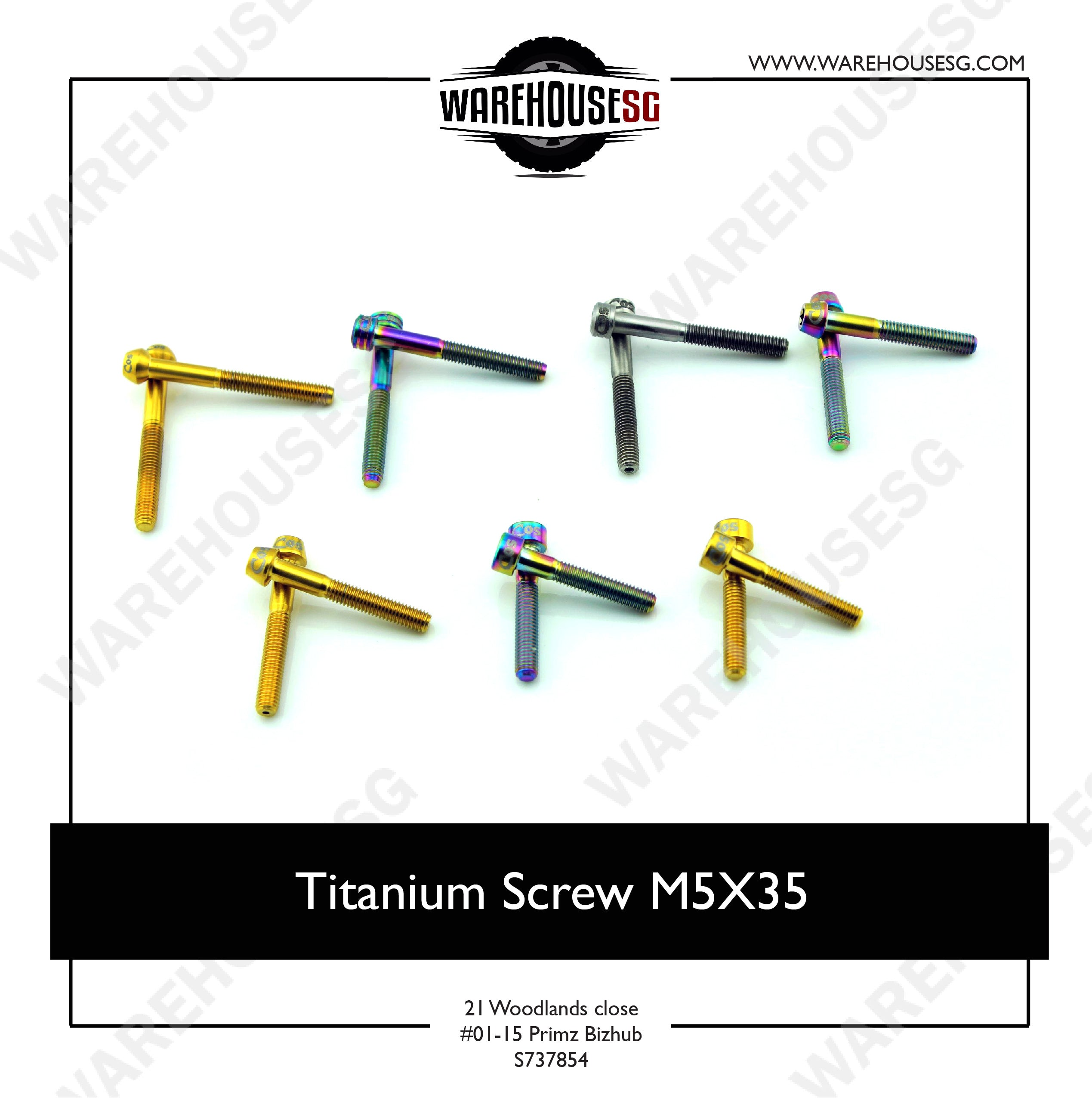 Titanium Screw M5X35