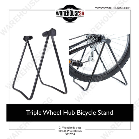 Triple Wheel Hub Bicycle Stand