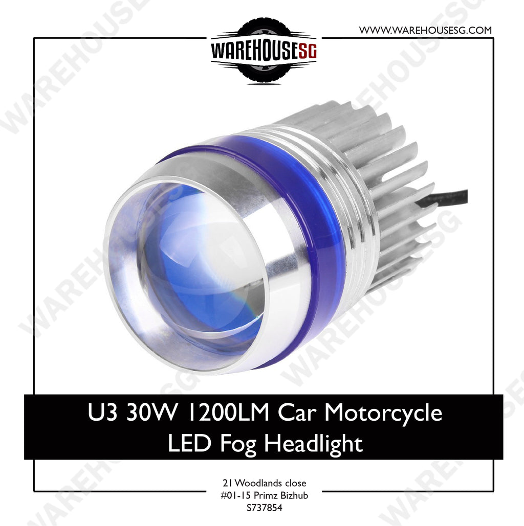 U3 30W 1200LM Car Motorcycle LED Fog Headlight
