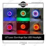 U7 Laser Gun Angel Eye LED Headlight