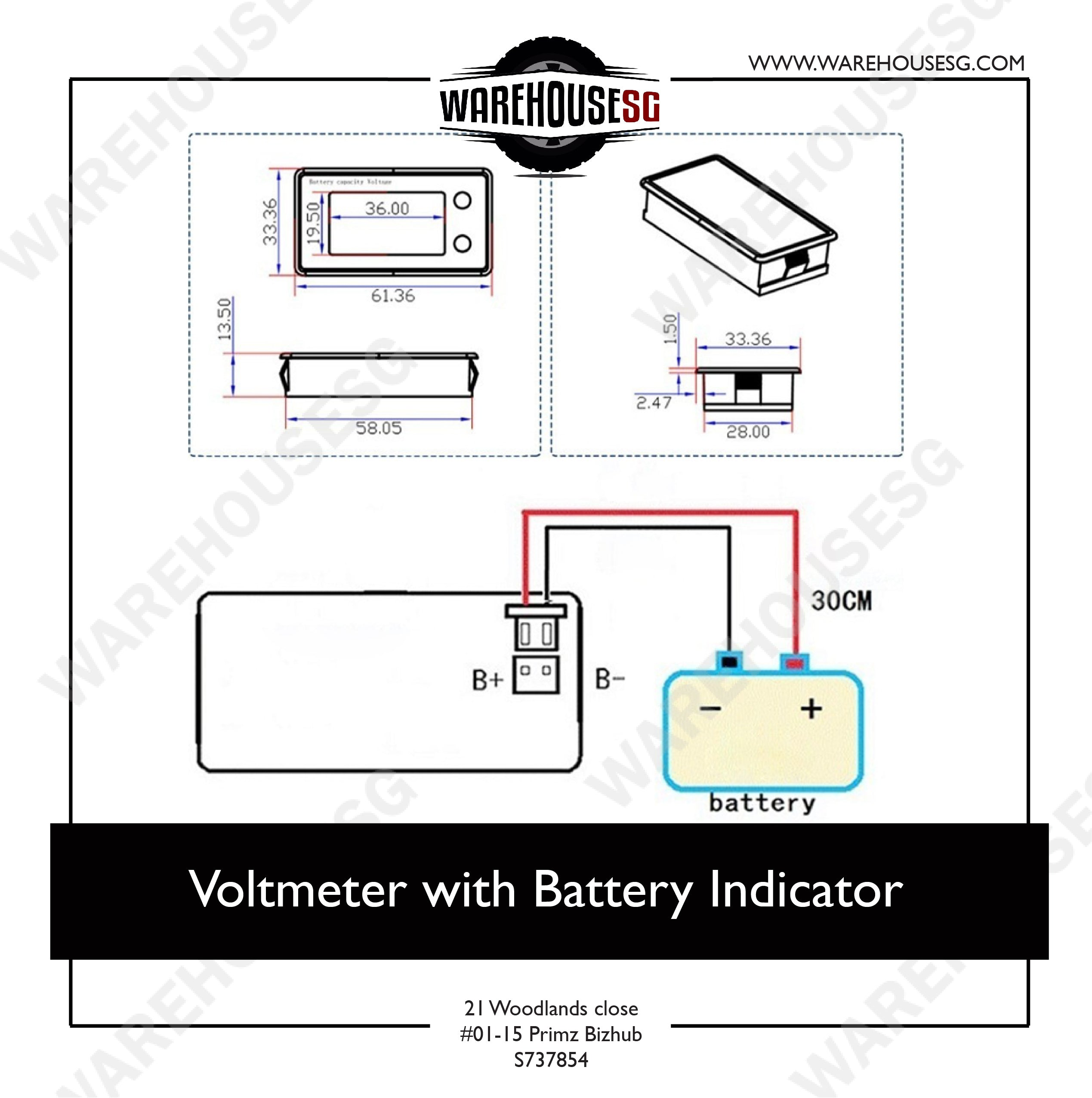 Voltmeter with Battery Indicator