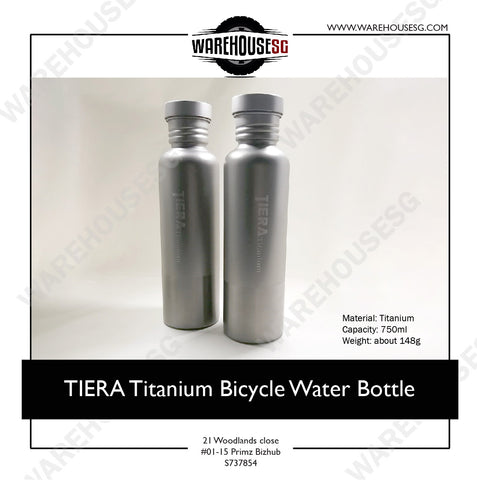 TIERA Titanium Bicycle Water Bottle