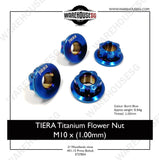 TIERA Titanium Flower Nut M10 x (1.00mm)