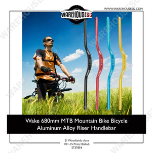 Wake 31.8mm x 680mm MTB Mountain Bike Bicycle Aluminum Alloy Riser Handlebar