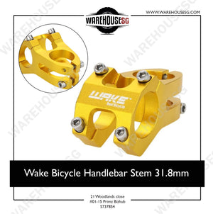 Wake Bicycle Handlebar Stem 31.8mm / Cycling Bike Aluminium Alloy MTB Mountain Bicycle