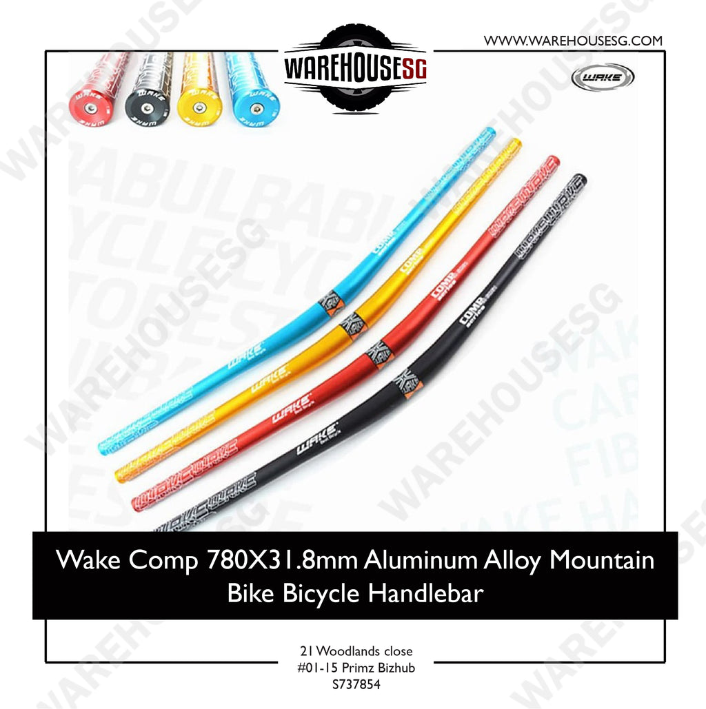 Wake Comp 780mm x 31.8mm Aluminum Alloy Mountain Bike Bicycle Handlebar
