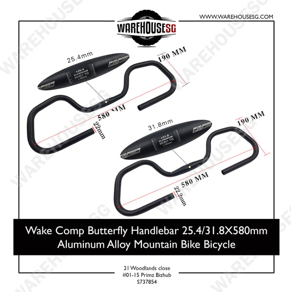 Wake Comp Butterfly Handlebar 31.8mm x 580mm
