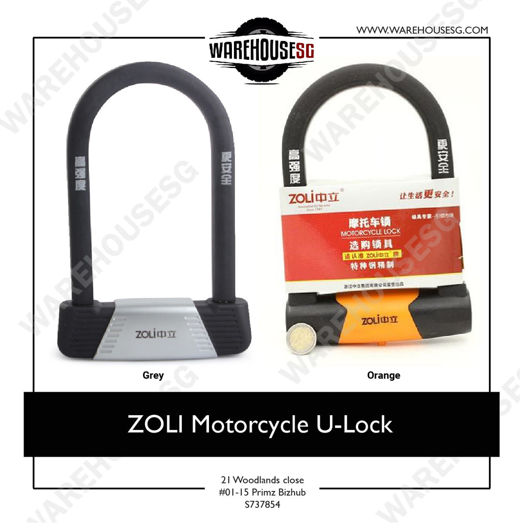 ZOLI Motorcycle U-Lock Anti-Theft Bike Lock