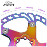 IIIPRO colorful floating disc road bike / mountain bike 180 / 203mm six-nail disc brake rotor brand new original