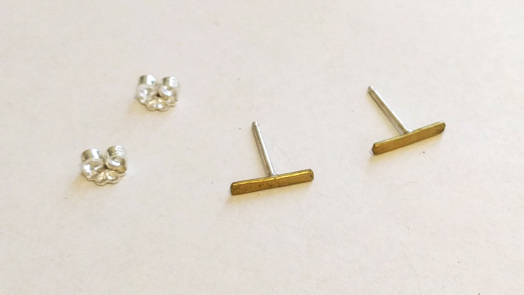 Small Hammered Line Studs