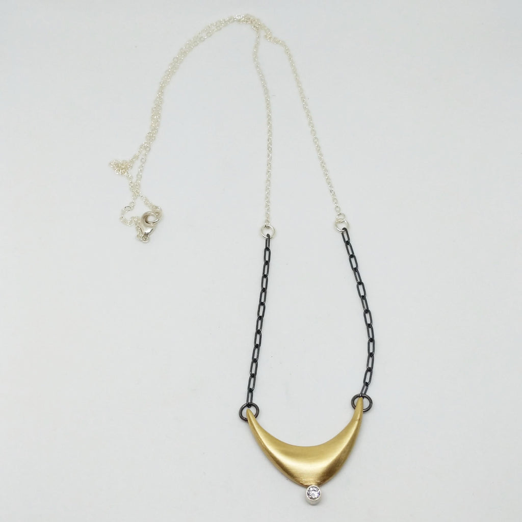 Medium Somber Necklace with Stone