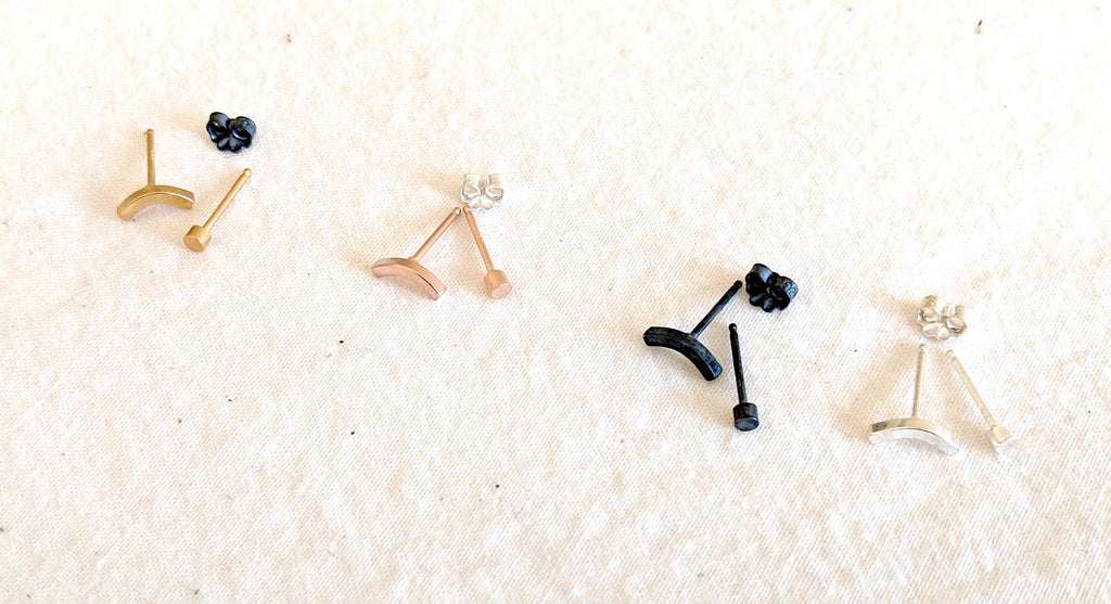 Mix & Match: Arc & Mico Dot Stud Set