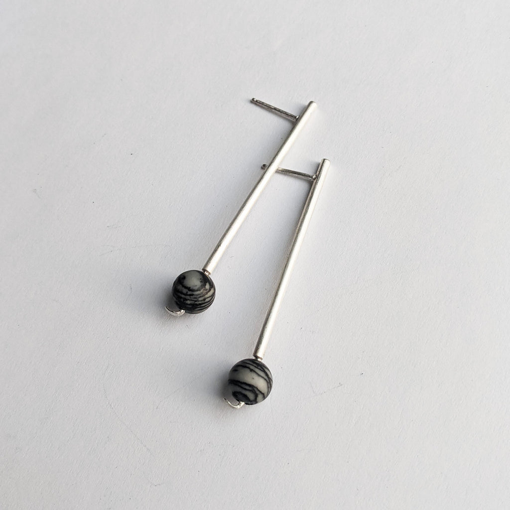 Dash Earrings - Silver