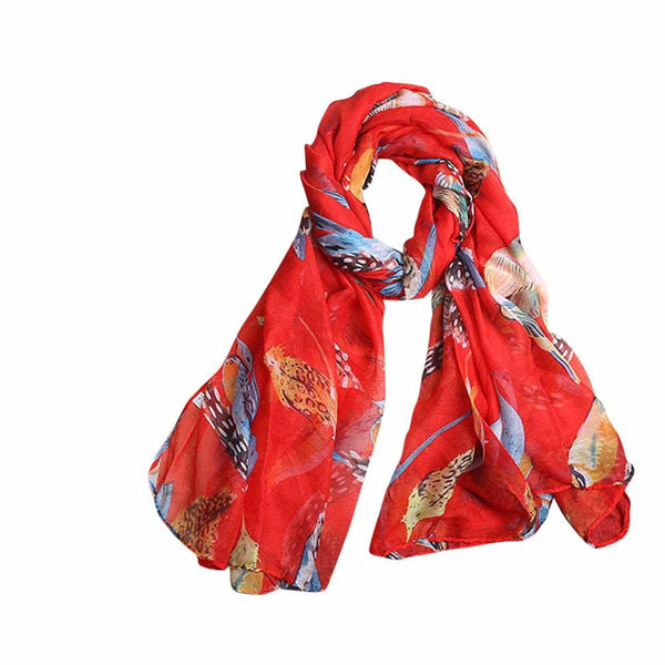 Leaves Birds Scarf