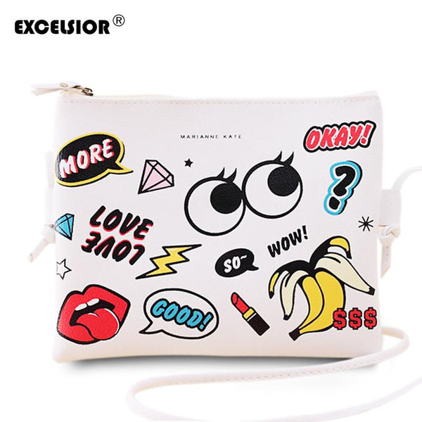 Cartoon Graffiti  Mini Cross-body Bag