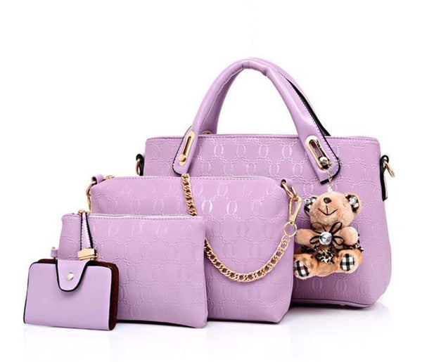 4PC Handbags PU Leather