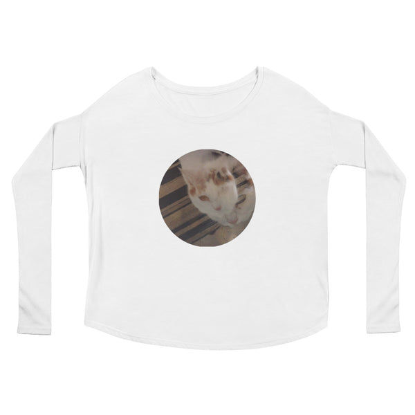 """Kibby Cat"" Ladies' Long Sleeve T-Shirt"