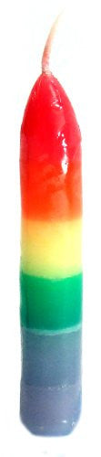 "Rainbow 3"" taper set of 6 Candles"