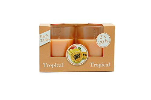 Pack of Two Ambientair Tropical Fruits Scented Candles